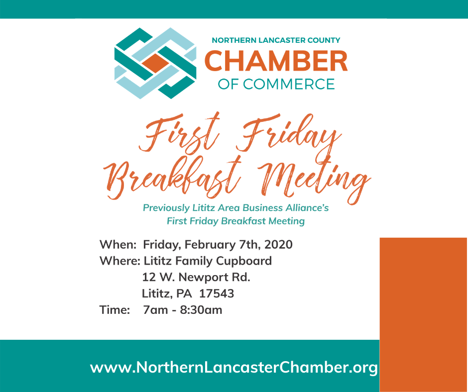 First Friday Breakfast | The Northern Lancaster County Chamber of ...